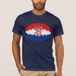 Camiseta Gnarly de la bandera de Croacia
