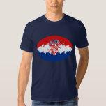 Camiseta Gnarly de la bandera de Croacia Playeras