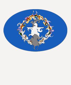 Camiseta Gnarly de la bandera de las Mariana Playera