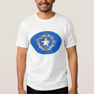 Camiseta Gnarly de la bandera de las Mariana Poleras