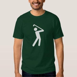 Camiseta Golfing del pictograma Polera
