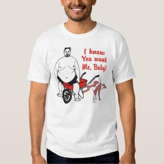 Camiseta gorda repugnante divertida del hombre camisas