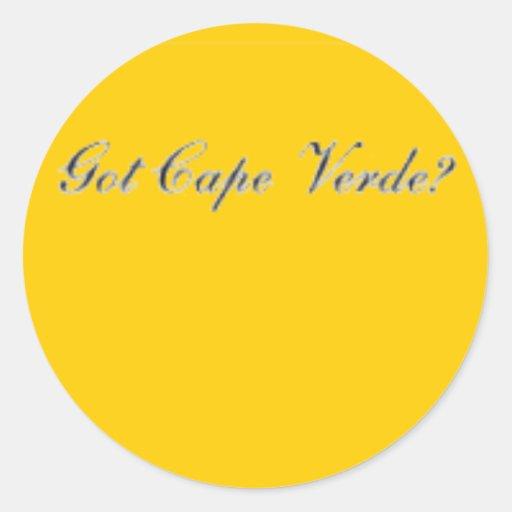 Camiseta, gorra, bolso y etc de Cabo Verde Pegatina Redonda