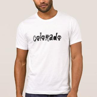 Camiseta gótica de la luz del regalo del cráneo de