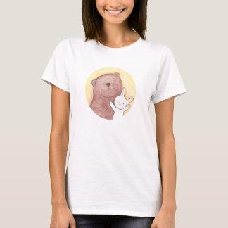 Camiseta gráfica animal de la camiseta linda feliz