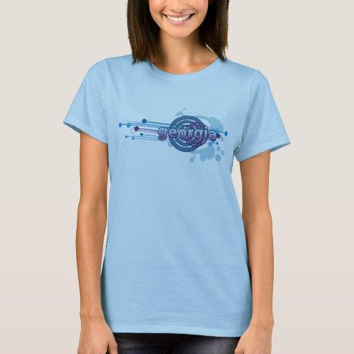 Camiseta gráfica de Georgia del círculo de los