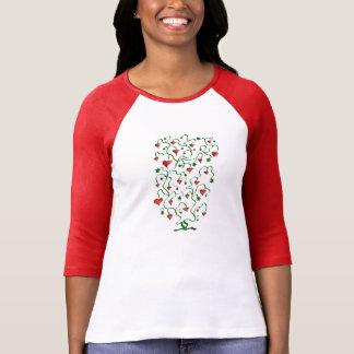 Camiseta gráfica de la diversión del árbol de AMOR