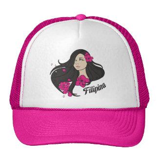 Camiseta gráfica de la filipina hermosa gorras de camionero