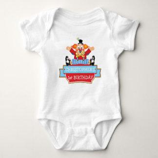 Camiseta GRÁFICA del 1r payaso del CUMPLEAÑOS del Mameluco De Bebé