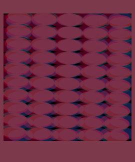 Camiseta gráfica del círculo del algodón rosáceo
