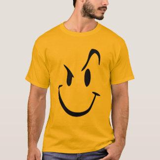 Camiseta gráfica sonriente loca