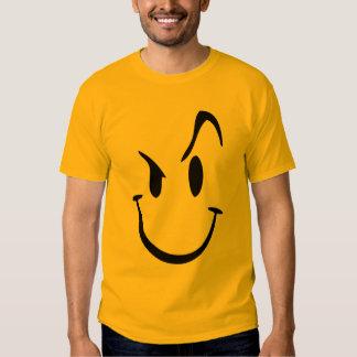 Camiseta gráfica sonriente loca playeras