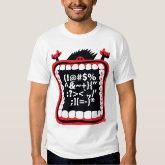 Camiseta grande de la boca playera