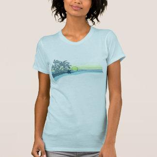Camiseta grande de las señoras de la puesta del playera