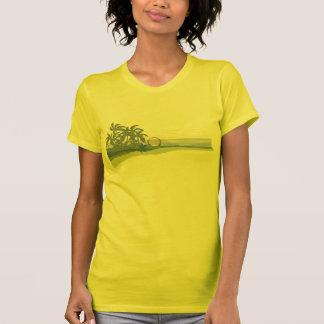 Camiseta grande de las señoras de la puesta del remeras