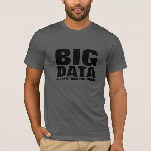 Camiseta grande de los datos