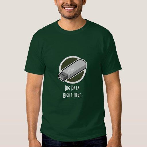 Camiseta grande de los datos de memoria USB Playeras