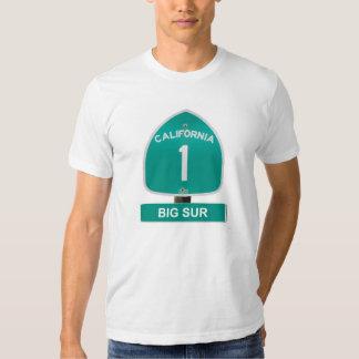 Camiseta grande de Sur de la carretera 1 de Playeras