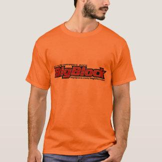 Camiseta grande del bloque, para hombre