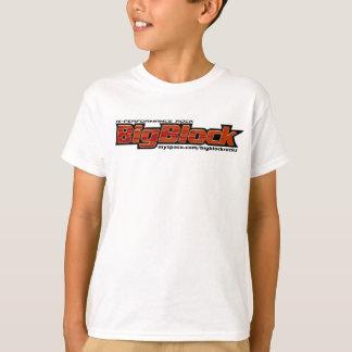 Camiseta grande del bloque, tamaños de los niños
