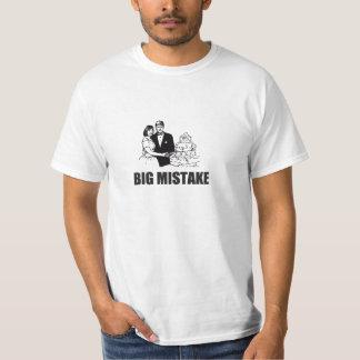 Camiseta grande del boda del error playera