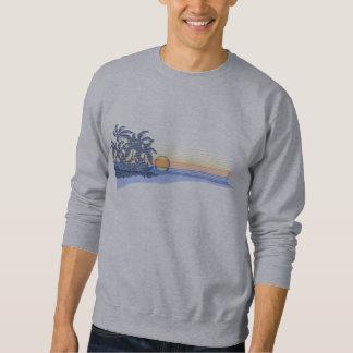 Camiseta grande del Hawaiian de la puesta del sol Sudaderas Encapuchadas