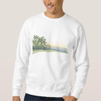 Camiseta grande del Hawaiian de la puesta del sol Suéter