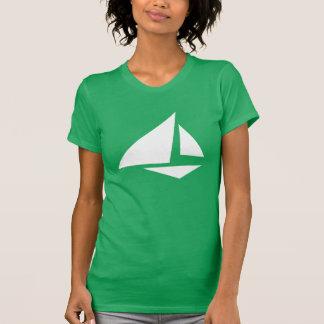 Camiseta grande del velero del papel del logotipo poleras