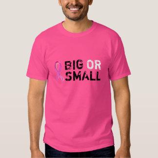 Camiseta grande o pequeña del cáncer de pecho playeras
