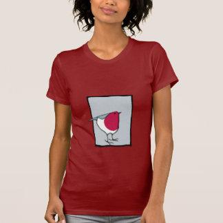 Camiseta gris de las señoras del pequeño petirrojo remera