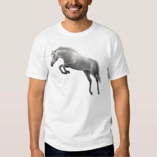 Camiseta gris de salto del caballo remeras