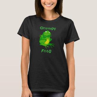 Camiseta gruñona de la rana de las mujeres