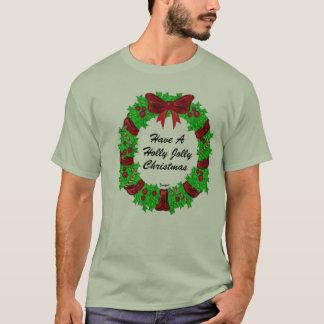 Camiseta - guirnalda alegre del navidad del acebo