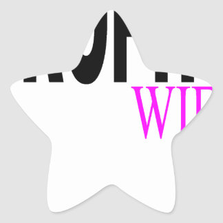 Camiseta H.png de la esposa del trofeo Pegatina En Forma De Estrella