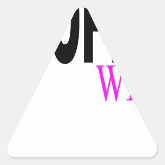 Camiseta H.png de la esposa del trofeo Pegatina Triangular