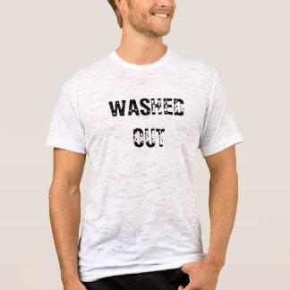 Camiseta hacia fuera cabida lavada de la quemadura