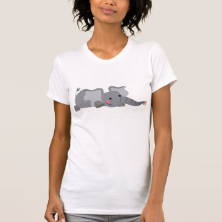 Camiseta hambrienta de las mujeres del elefante