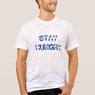 Camiseta hambrienta del vintage de la estancia