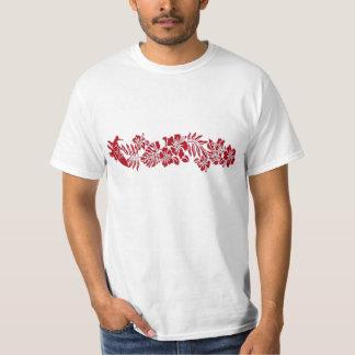 Camiseta hawaiana de la banda del hibisco de remera