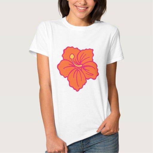 Camiseta hawaiana de la flor remera