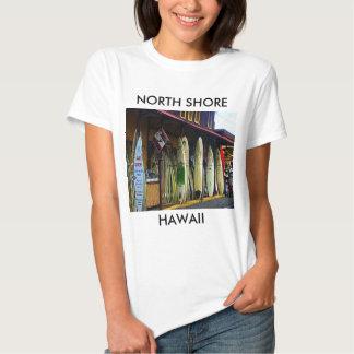 Camiseta hawaiana de las personas que practica poleras