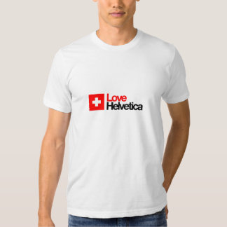 Camiseta Helvética del amor Playera