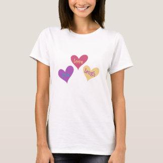 camiseta hermosa de la risa viva del amor