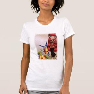 Camiseta hermosa del diseño 1 de las flores del remeras
