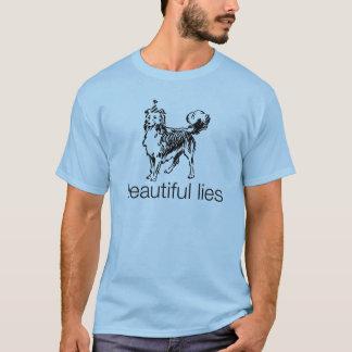 Camiseta hermosa del perro de las mentiras