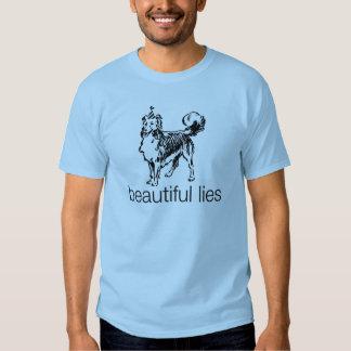 Camiseta hermosa del perro de las mentiras remera