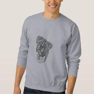 Camiseta hermosa del perro del boxeador sudaderas encapuchadas