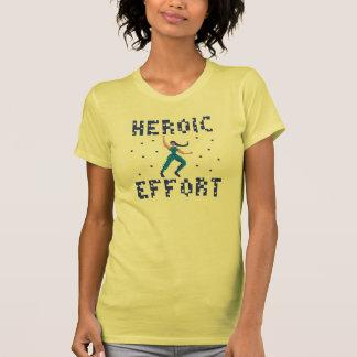 Camiseta heroica del arte del pixel de esfuerzo