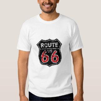 Camiseta histórica de la muestra de la ruta de la remera