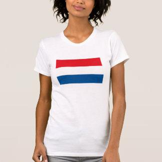 Camiseta holandesa de la bandera playeras